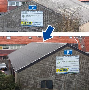 Nieuwe dakplaten en zonnepanelen